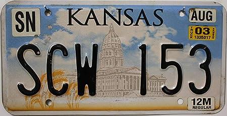 Usa Auswahl Von Fahrzeugschildern Original Kansas Nummernschild Usa Kennzeichen Us License Plate Kfz Schild Aus Metall Auto