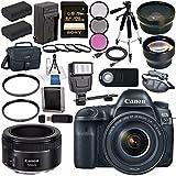 Canon EOS 5D Mark IV DSLR Camera with 24-105mm f/4L II Lens 1483C010 + Canon EF 50mm f/1.8 STM Lens 0570C002 Bundle