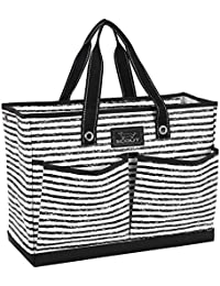 BJ Bag, Large Multi Pocket Utility Tote for Beach and Pool, Reinforced Bottom, Water Resistant, Zips Closed