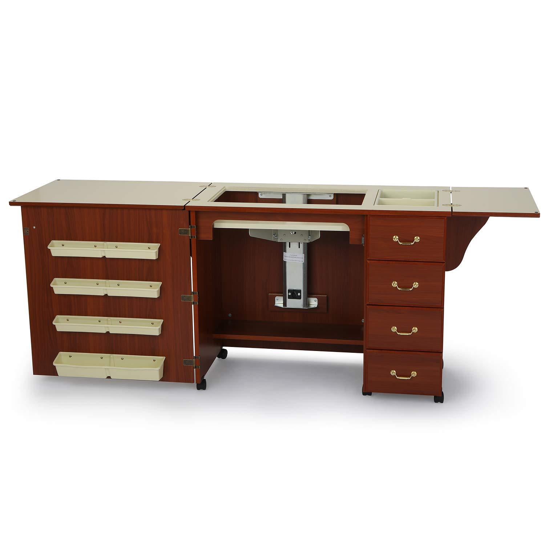 Arrow 98352 | Mobiletto Norma Jean per Macchina da Cucire | Colore: Ciliegio | Dimensioni: 207 x 50.8 x 77.5cm Arrow Cabinets 808-352