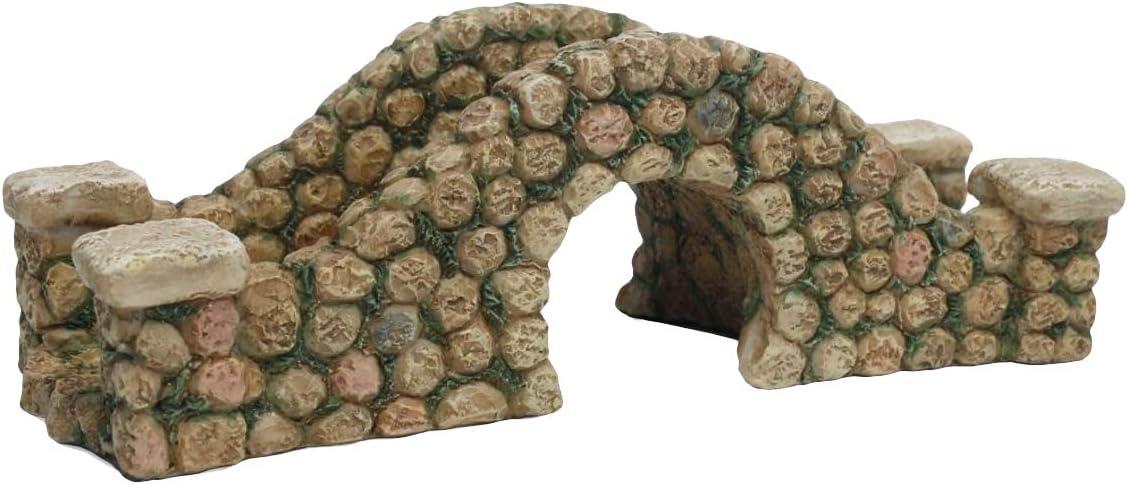 TG,LLC Treasure Gurus Miniature Stone Bridge Fairy Garden Decor Dollhouse Ornament Accessory