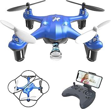 Opinión sobre ATOYX AT-96 Drone Cámara HD, RC Mini Drone, 3D Flips, Modo sin Cabeza con App WiFi FPV 2.4Ghz, Altitud Hold, Una Tecla de Despegue y Aterrizaje de Gravedad, Mejor Regalo, Azul