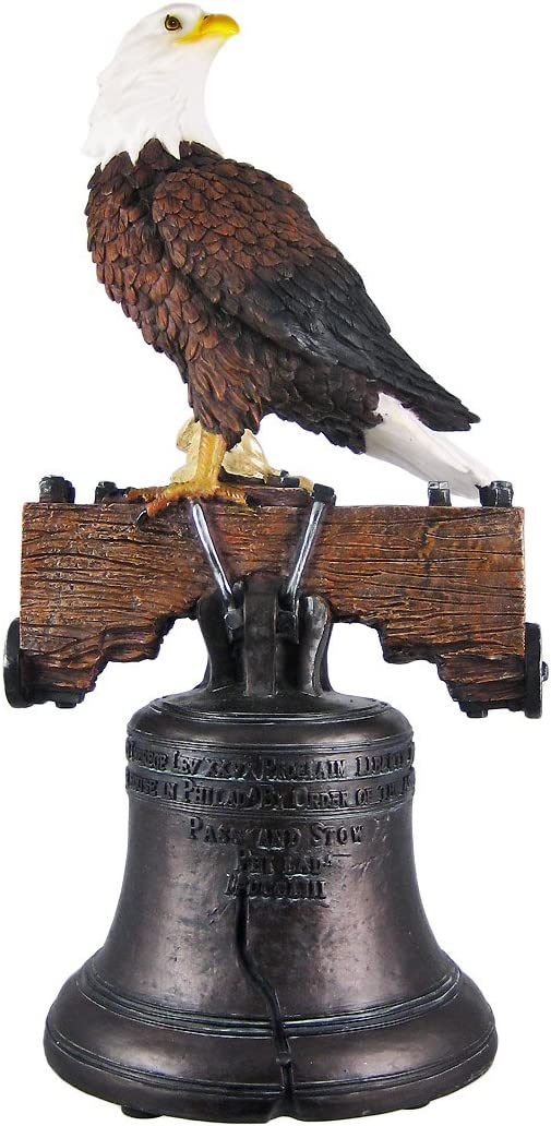 Things2Die4 Liberty Bell/American Bald Eagle Statue Freedom