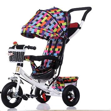 GSDZSY - Triciclo para Niños Carro De Bebe, 4 En 1 Plegable ...