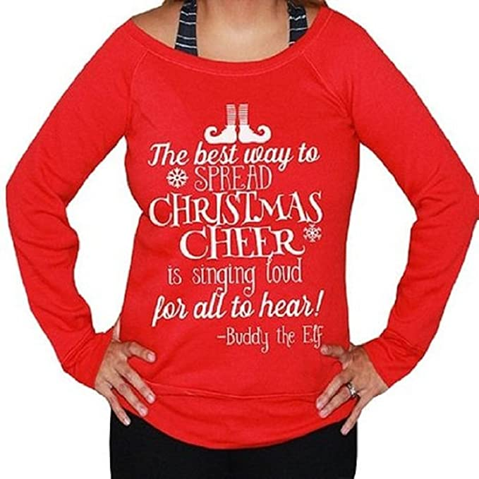 she squats clothing ugly christmas sweater buddy the elf cheer small unisex black wwhite - Buddy The Elf Christmas Sweater