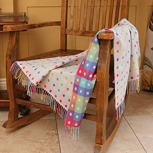 Baby Multi Spot Pure New Wool Blanket by Irish Foxford Woollen Mills (39.4