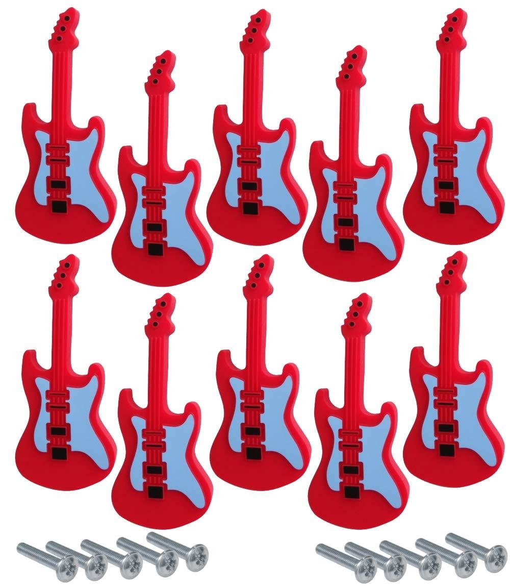 AERZETIX 10x poign/ée Bouton de tiroir Placard Porte Meuble Armoire Guitare Rouge 92//40mm C41777