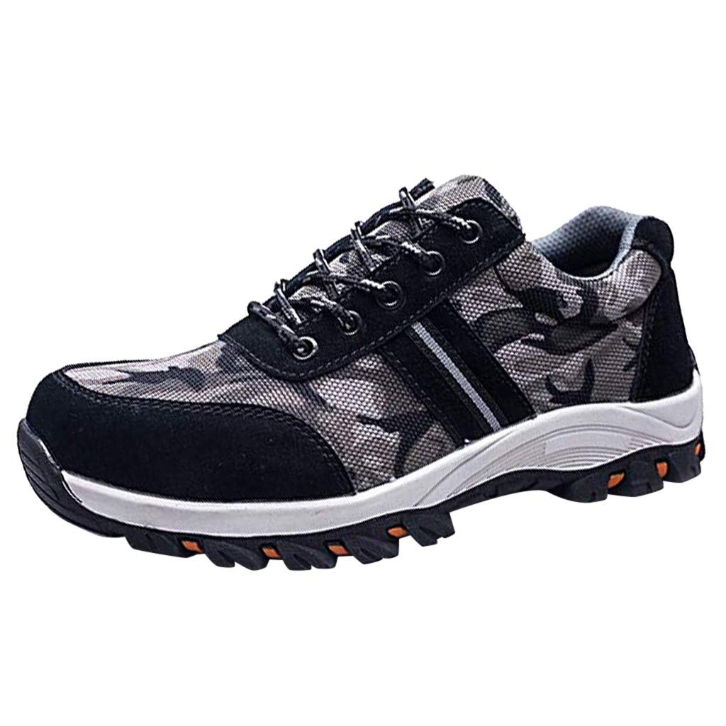 Work Safety Shoes - Men Women Anti Puncture Wear Resistant Steel Toe Cap Hiking Breathable Industrial & Construction Sneakers