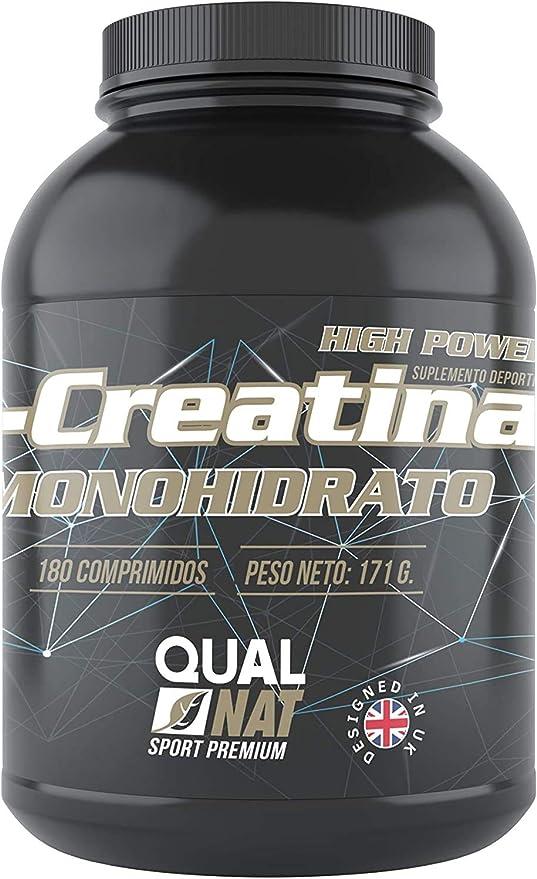 Creatina Monohidrato   Suplemento Deportivo   180 Comprimidos -Qualnat