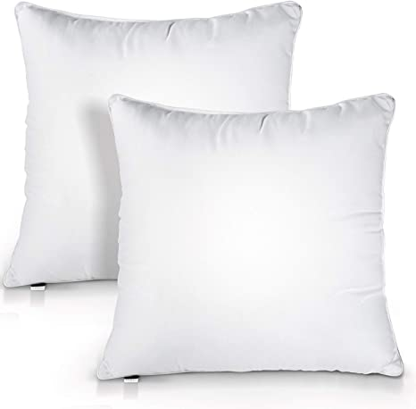 Amazon Com Hokeki 18x18 Pillow Insert Premium Pillow Stuffing Throw Pillow Insert Square 18x18 Pillow Insert Set Of 2 Pillows For Couch Indoor Decorative Pillows Standard White Kitchen Dining