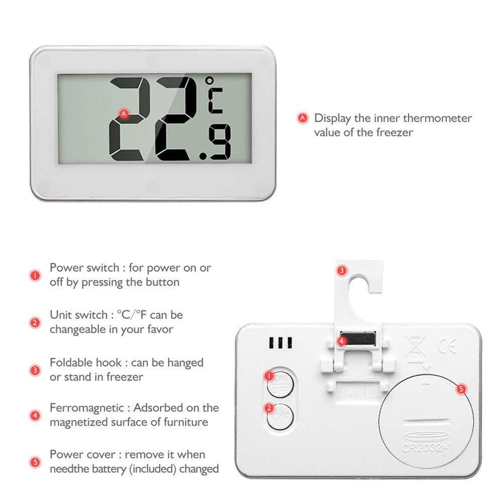 Asien 2ST Digital Nevera congelador fácil de Usar Nevera Monitor ...