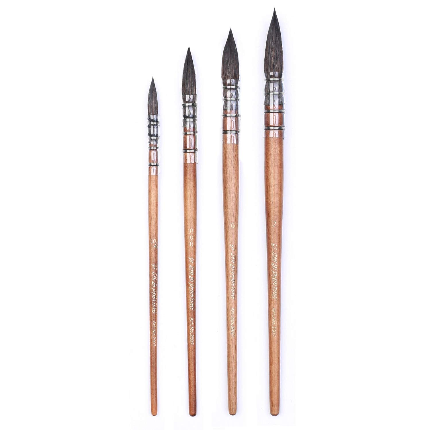 Artist Watercolor Paint Brush Mop and Wash Pure Squirrel Hair for Watercolors Gouache Illustration Animation Size 10/0 000 0 2