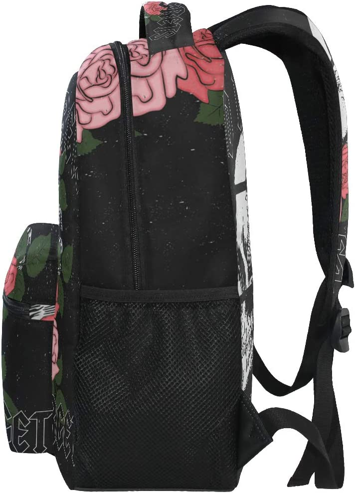 ALAZA Grunge Rose Flower /& Skull Rock Large Backpack Personalized Laptop iPad Tablet Travel School Bag with Multiple Pockets