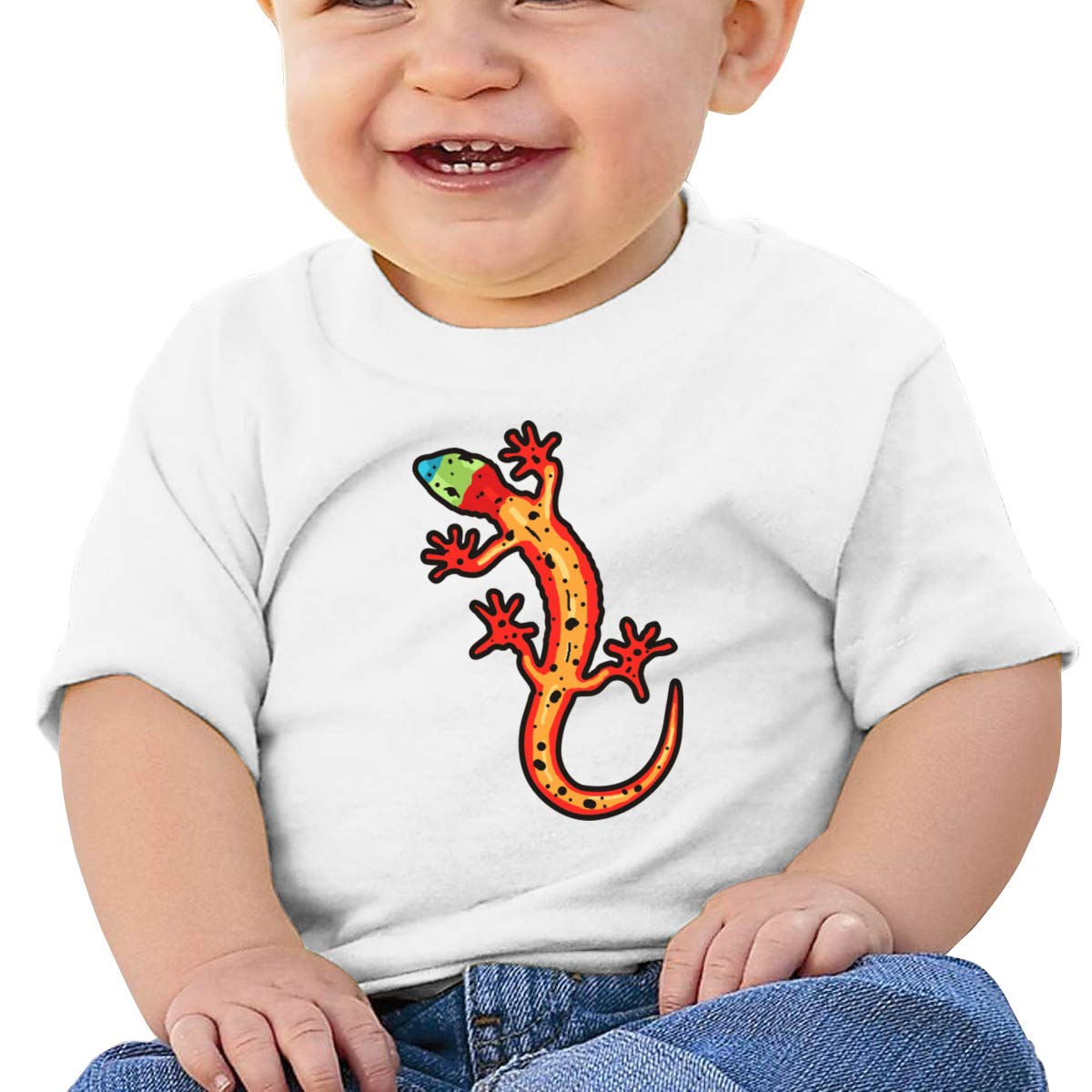 Qiop Nee Gecko Multicolored Short Sleeves Shirt Baby Girls