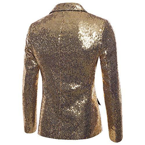 Casual Manteau Performance Or De Blazer One Veste fit Costume Kinlene Homme À Fit Paillettes Top Men's Sequin qFx8xp