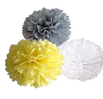 dooxoo fiesta Tejido pompones papel pompones flores boda ...