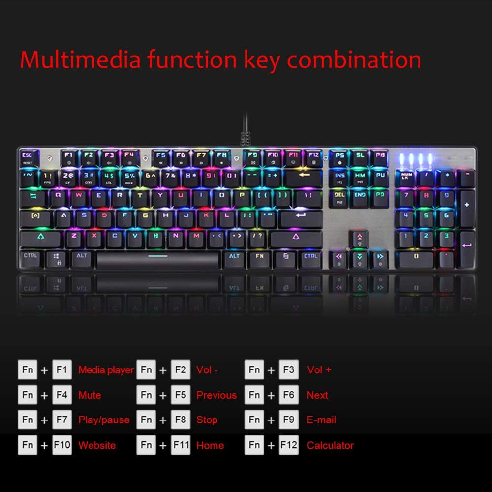 ZHOUMOJP PC Gamer Computer Game Mechanical Gaming Keyboard and Mouse Set with Backlight Kit USB Keybord Luminous