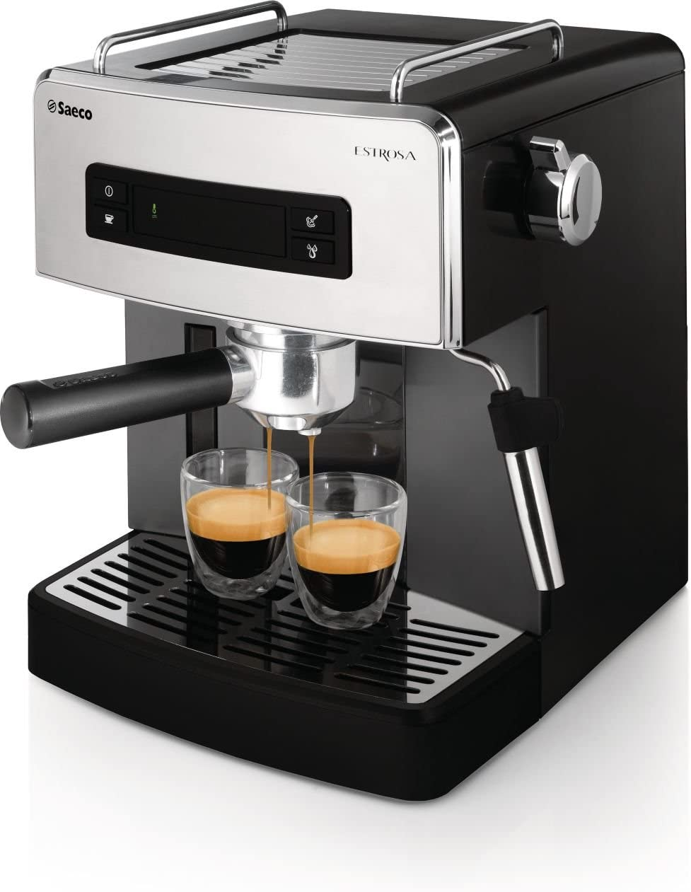 Philips Saeco HD8525/09 - Cafetera (Independiente, Negro, Cromo ...