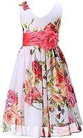 Amazon.com: Bow Dream Little Girls Elegant Ruffle Chiffon Summer ...