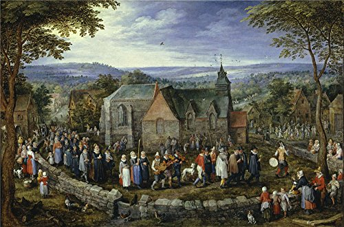 High Quality Polyster Canvas ,the Vivid Art Decorative Canvas Prints Of Oil Painting 'Brueghel The Elder Jan Country Wedding Ca. 1612 ', 18 X 27 Inch / 46 X 69 Cm Is Best For Home Theater Artwork And Home Decor And Gifts