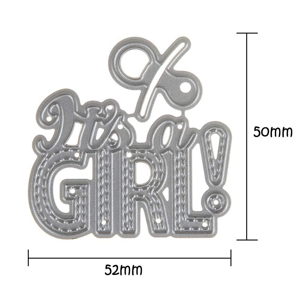 TOOGOO DIY Baby Girl Metal Steel Cutting Dies Embossing Craft Dies 3D Scrapbooking Stamp Handmade Card Making Photo Decoration