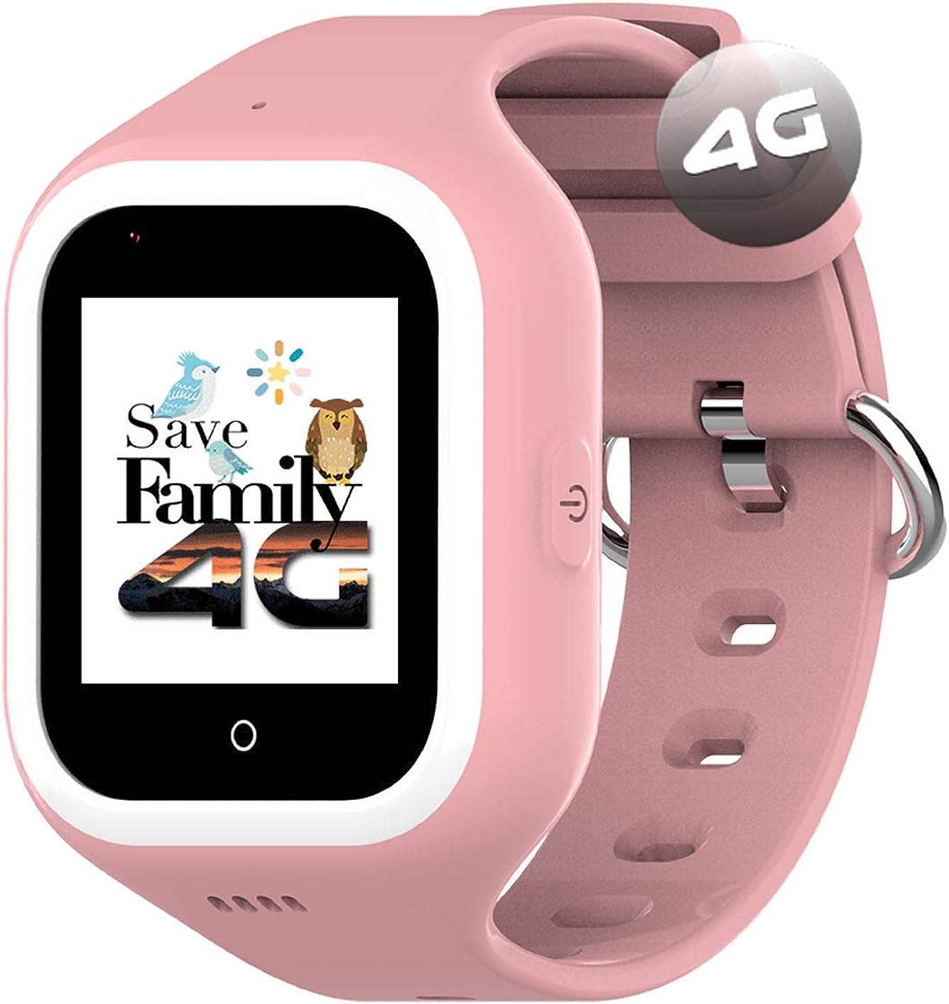 Reloj-Smartwatch 4G Iconic con Videollamada & GPS instantáneo para niños SaveFamily. Reloj con WiFi, Bluetooth, cámara, identificador de Llamadas, Boton SOS Waterproof Ip67. App SaveFamily