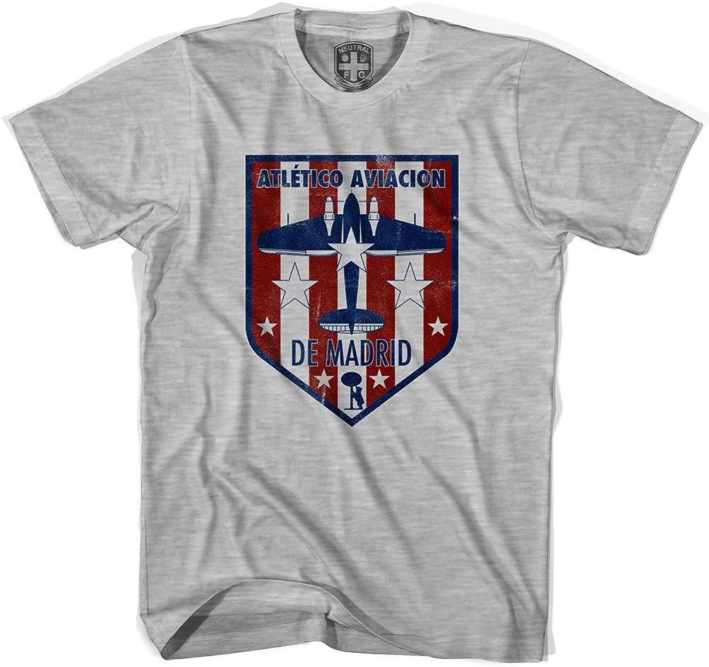 Camiseta Atlético Madrid Crest Gris Gris frío. L: Amazon.es: Ropa y accesorios