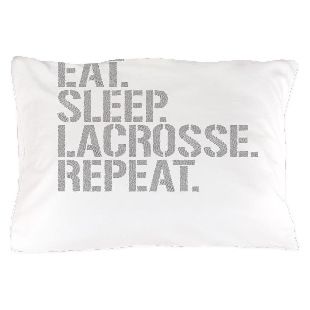 CafePress - Eat Sleep Lacrosse Repeat - Standard Size Pillow Case, 20''x30'' Pillow Cover, Unique Pillow Slip