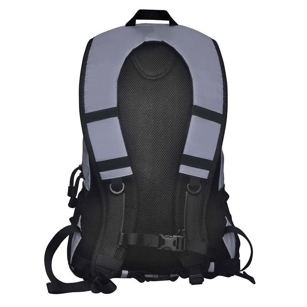 Proviz Sports Reflect360 100 Reflective High-Viz Highly Water Resistant Backpack Rucksack, Great for Sports Cycling