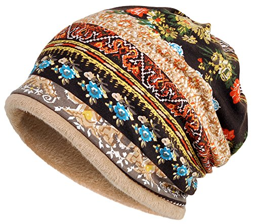 Qunson Thick Warm Baggy Slouchy Beanie Chemo Hat Cap for Women