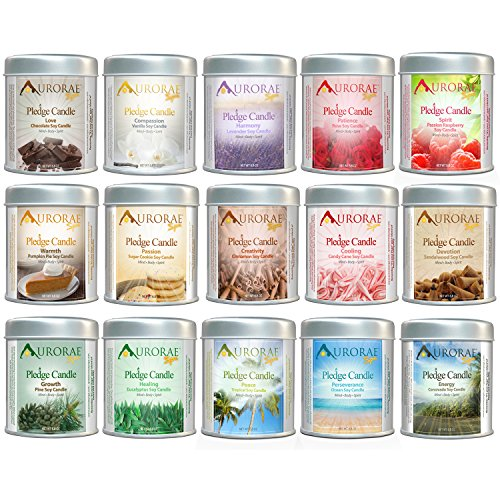 Aurorae Scented Soy Aromatherapy & Meditation Candle