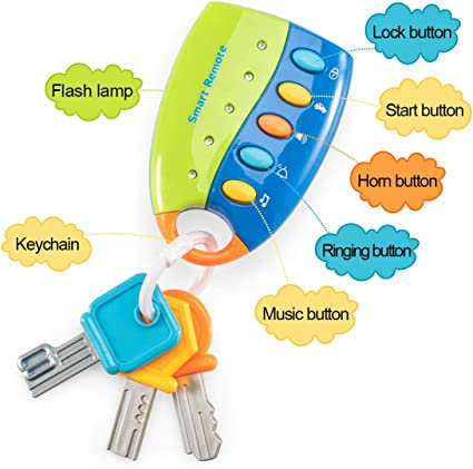 Kidsthrill Flash Music Smart Remote Car Key Baby Toy