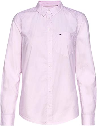 Tommy Jeans Camisa DW0DW09139 Rosa para Mujer XS: Amazon.es ...