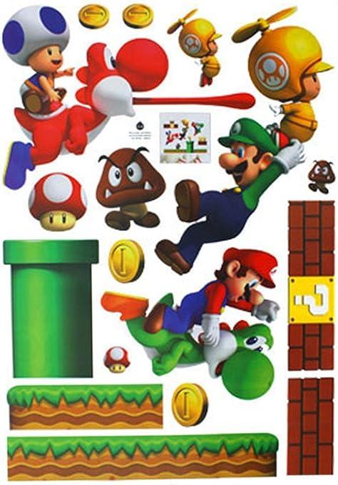 Eozy 27561969 Pouces Super Mario Bros Pvc Sticker Mural Pour Coucher Chambre
