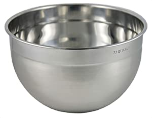 Tovolo Stainless Steel Deep Mixing Bowl, Easy Pour With Rounded Lip, Kitchen Metal Bowls for Baking & Marinating, Dishwasher-Safe Stainless Steel.