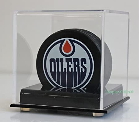 1 to 5 Hockey Puck Holder Display Case Stand, UV Protection