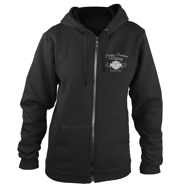b803832aa Amazon.com: Harley-Davidson Military - Women's Zip Hoodie - Overseas Tour |  American Angel 2X-Large: Clothing