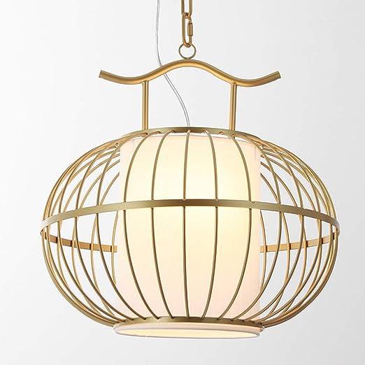 HBJP Araña China de Hierro Forjado Forma de Jaula pequeña lámpara ...