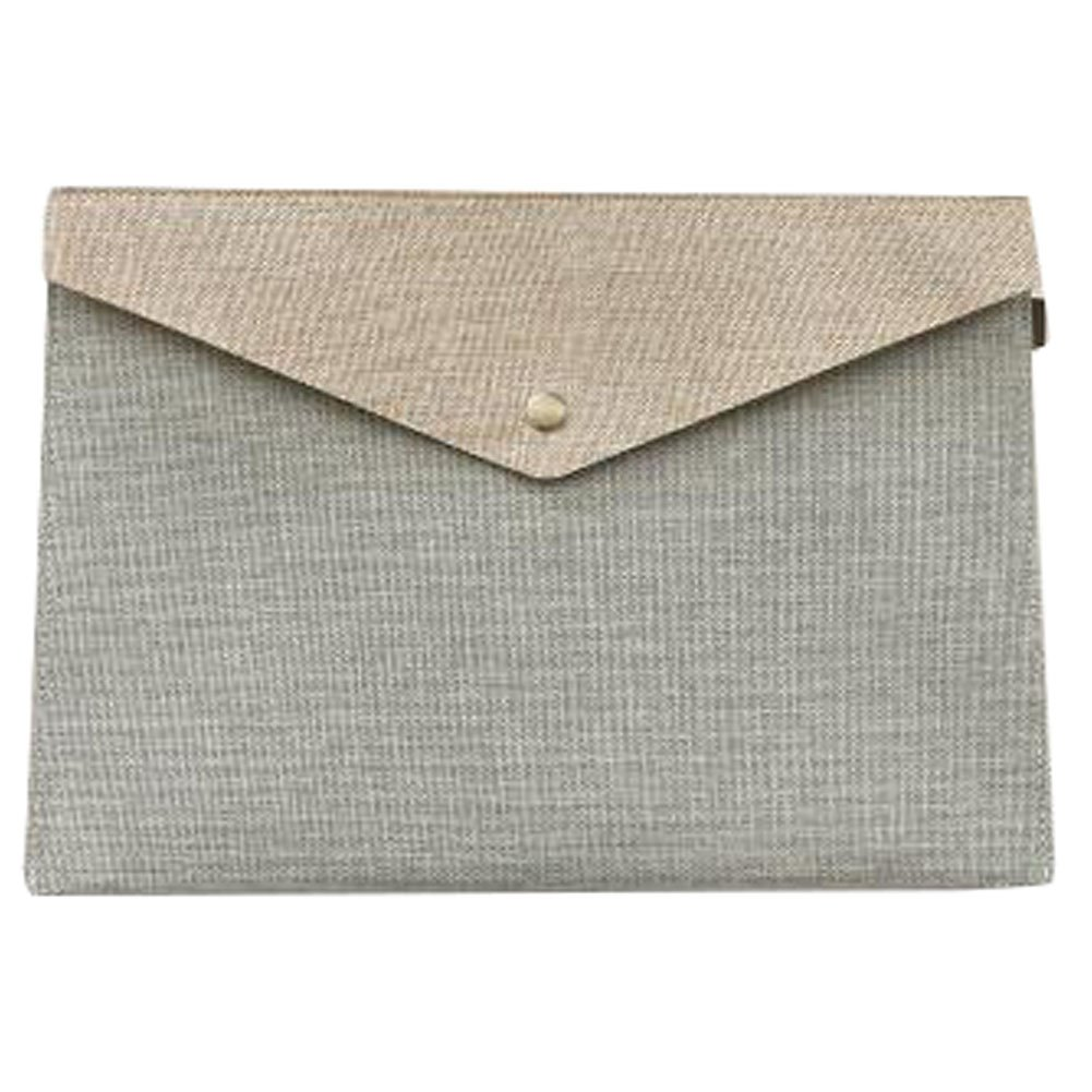 Cute File Bag Large Stationery Bag Pouch File Envelope for Office/School Supplies, Creamy-white