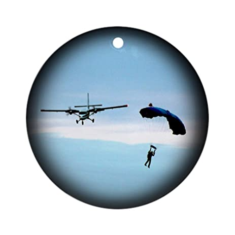 CafePress - Skydiving Christmas Ornament (Round) - Round Holiday Christmas  Ornament - Amazon.com: CafePress - Skydiving Christmas Ornament (Round) - Round