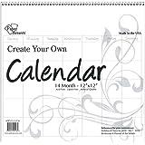 Accent Design Paper Accents ADP1212-3.CAL Cyo Calendar 12x12 Blank WHT Cyo Calendar 12x12 14 Month Blank White
