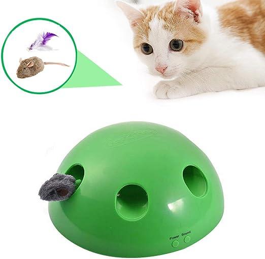 LIANGZHI 2019 nuevos Juguetes para Gatitos para Entretenimiento Juguete Gato Interactivo Raton Juguete Gato Rotación Aleatoria Juguete para Gatos: Amazon.es: Hogar