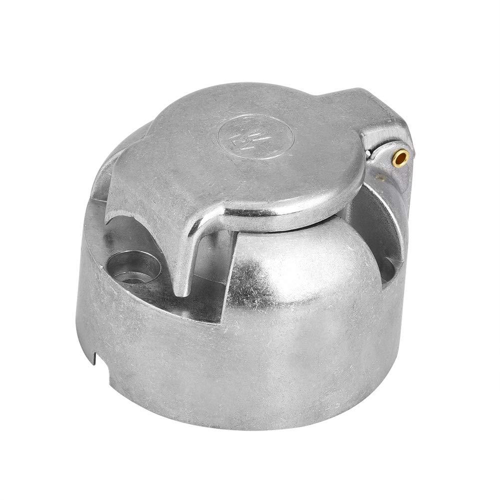 Jadeshay Adaptador del Conector del zócalo del Enchufe del Remolque de 12V 7Pin para la Remolque de Remolque de la Caravana de la Caravana