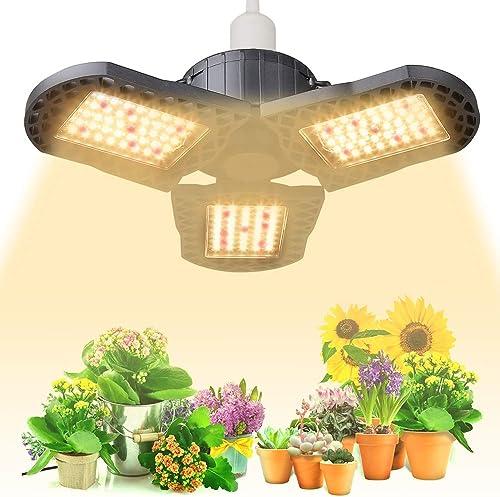 DAKASON KS-1000 LED Grow Light, Up Graded Full Spectrum LED Grow Lights for Indoor Plants Seeding Veg and Flower, Dimmable Grow Light with UV IR for All Stage