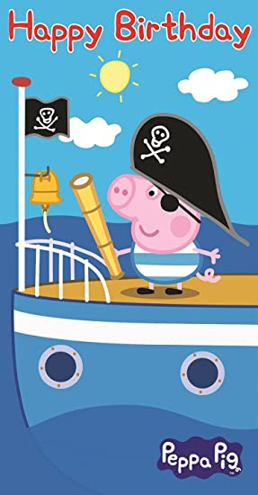 Peppa Pig George Pirate Birthday Card Amazon Electronics