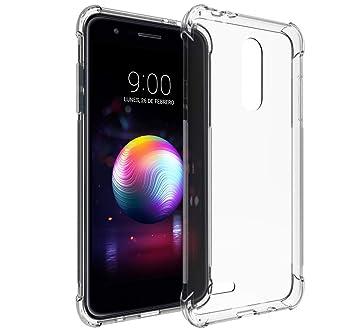 Tumundosmartphone Funda Gel TPU Anti-Shock Transparente para LG K11