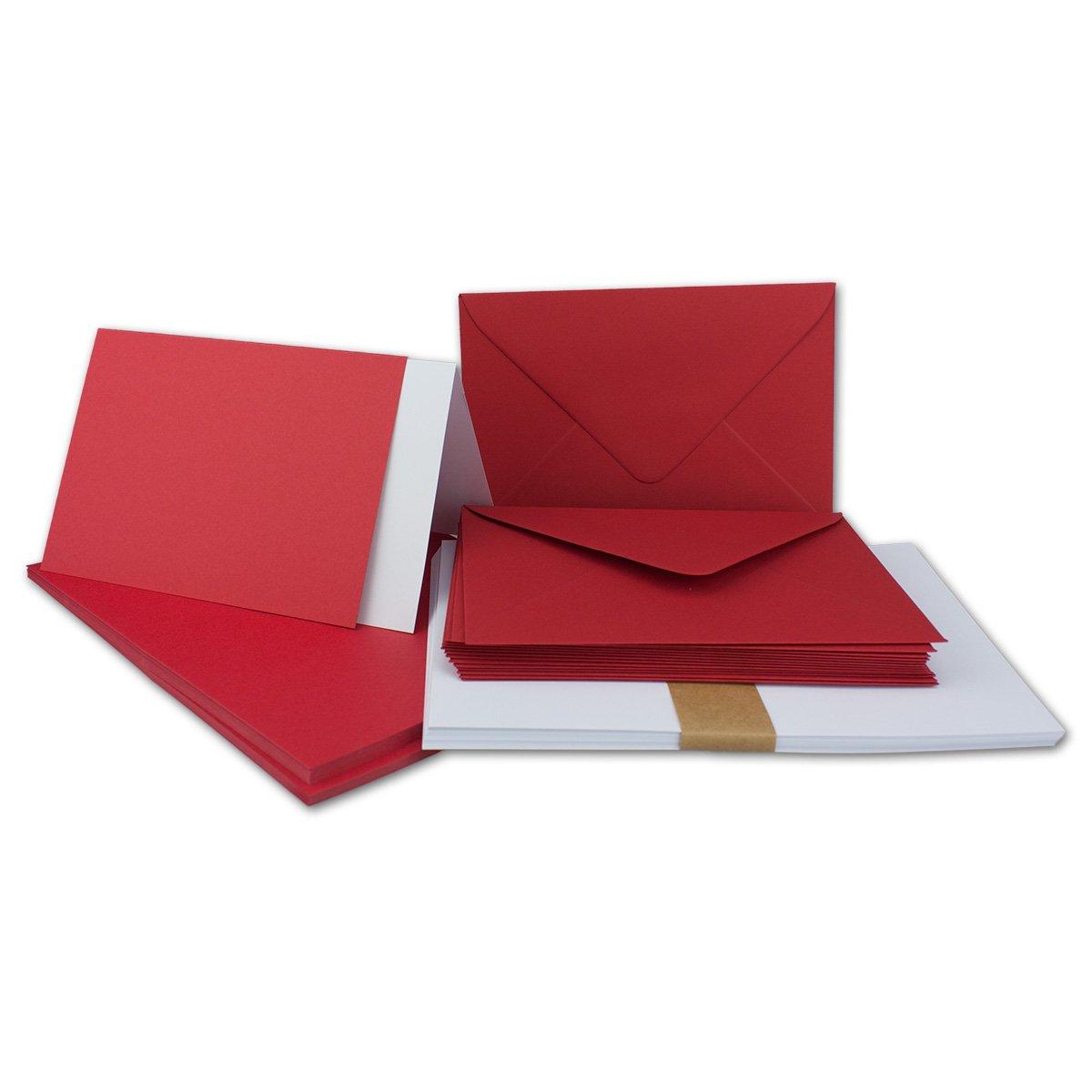150 Sets - Faltkarten Hellgrau - DIN A5  Umschläge  Einlegeblätter DIN C5 - PREMIUM QUALITÄT - sehr formstabil - Qualitätsmarke  NEUSER FarbenFroh B07C2ZHG72 | Elegant Und Würdevoll