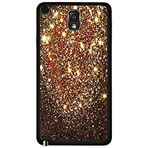 Bronze Glitter Hard Snap on Phone Case (Note 3 III) by supermalls