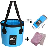 Collapsible Bucket,5 Gallon Portable Folding Bucket for Fishing Camping Travelling Hiking
