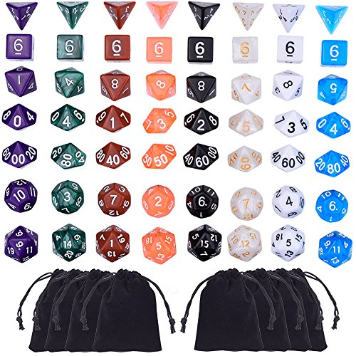 Polyhedral Colors Pouches Dungeons Dragons product image